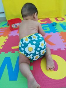cloth diapers for babies - with a sunny side up egg design