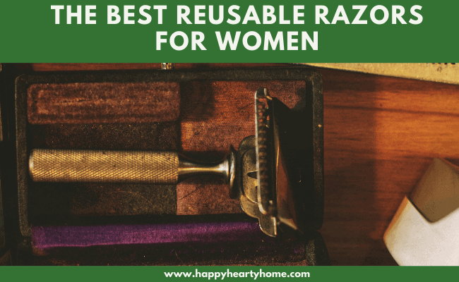 a gold rose reusable razor for women.