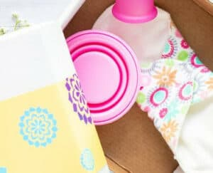 Best Washable Panty Liners - a photo of a washablep anty liner with a colorful design.