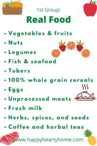 food that is in its original form and are recommended for us to consume in huge quantity.