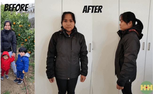 Before And After Photo - Black Jacket