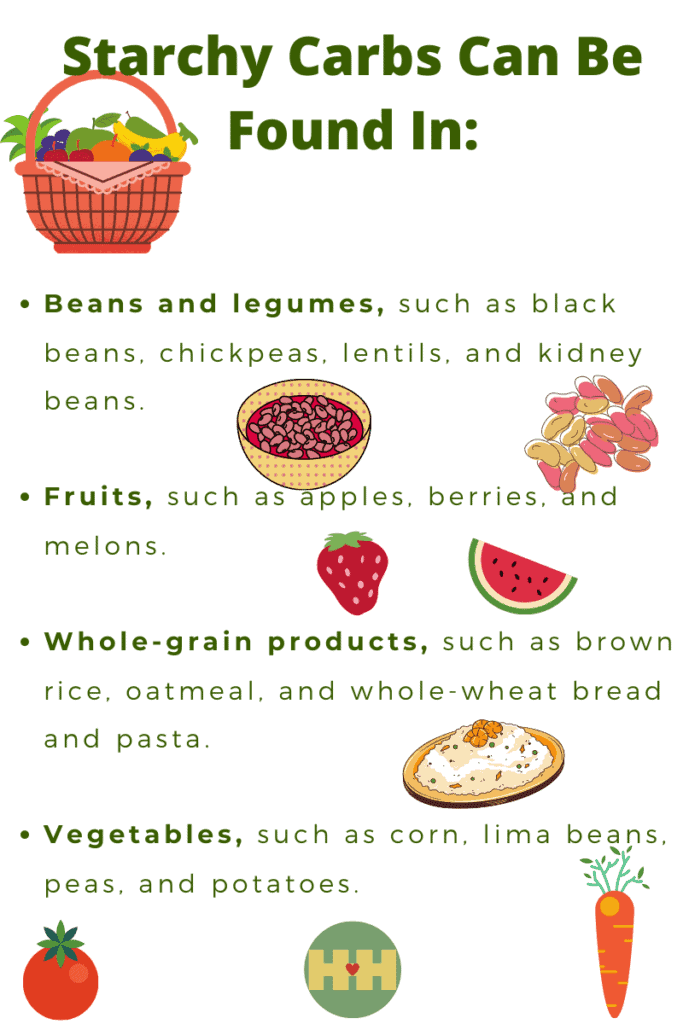 Sources of starchy carbohydrates