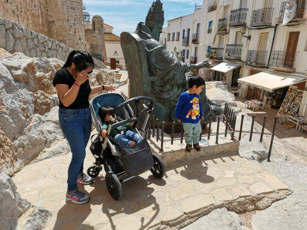 take photos at the famous papa luna statue - one of the top things to do in peniscola,spain.