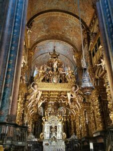 The very beautiful altar of Santiago de Compostela Cathedral.