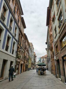 cobbled streets of Oviedo.
