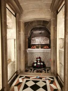 The tomb of St. James The Great, one of the apostles of Jesus Christ.